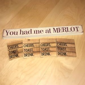"Mudpie Coasters and ""You had me at Merlot"" 🍷"